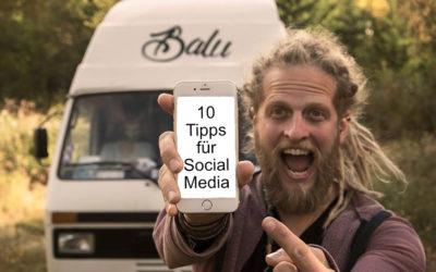 10 Tipps für Social Media