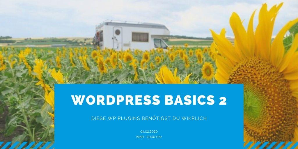 Webinar: WordPress Basics 2 – Diese WP Plugins benötigst du wirklich