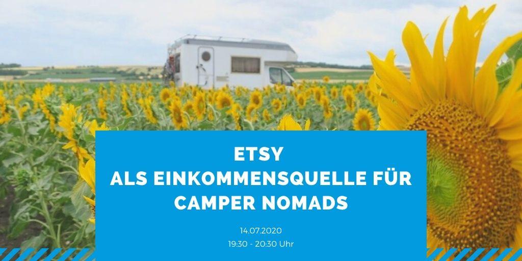 WEBINAR: Etsy als Einkommensquelle für Camper Nomads