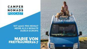 Freiträumer20.7 - mit 500 € pro Monat mehr als eineinhalb Jahre durch Europa