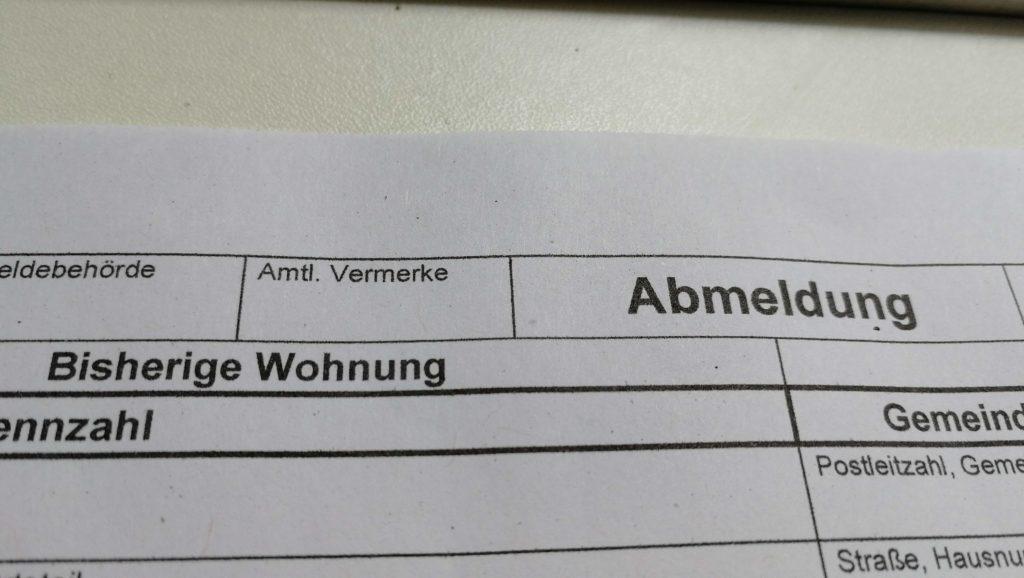Abmelden aus Deutschland
