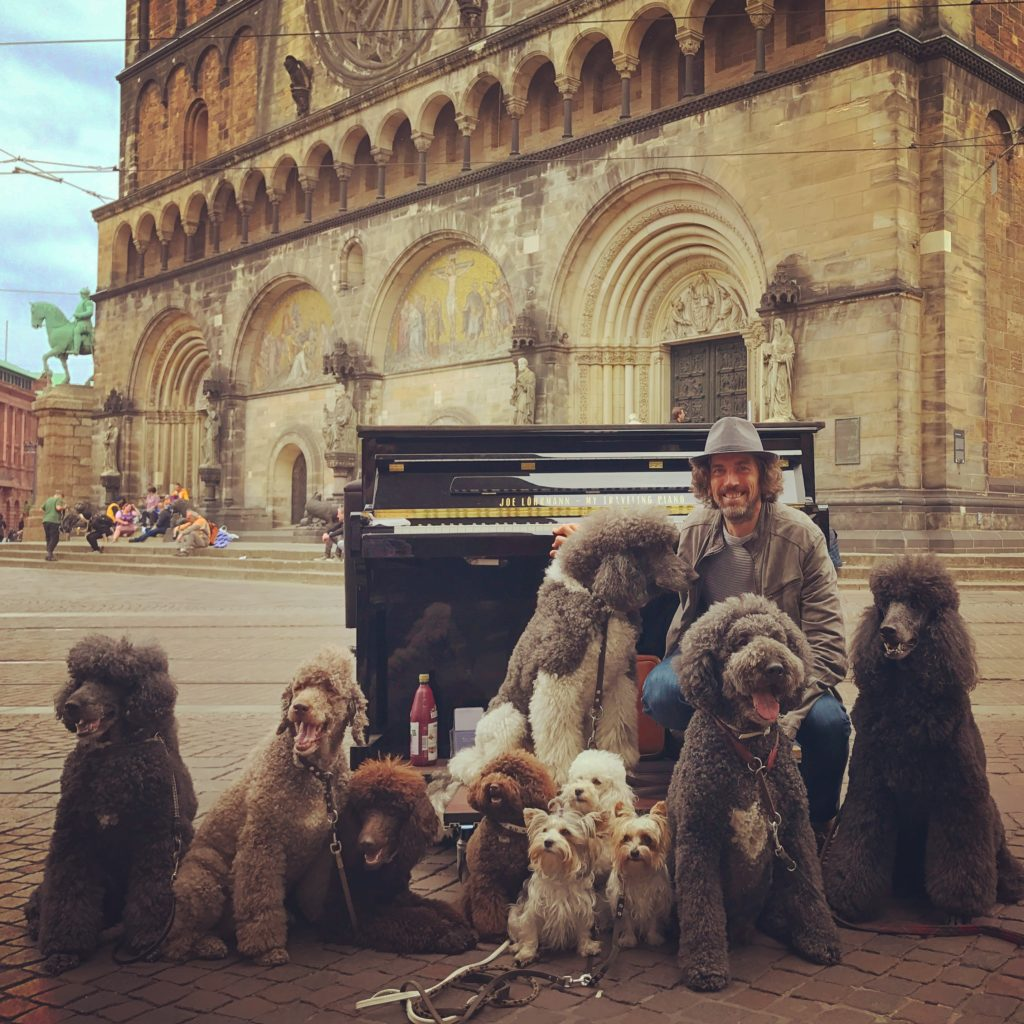 My Traveling Piano - Joe Löhrmann mit dem Klavier im Kastenwagen